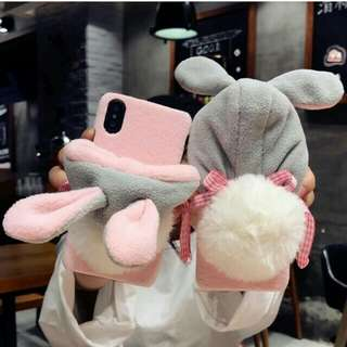 Limited!! Cute fluffy bunny case