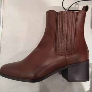 Forever 21 Brown Leather Boots