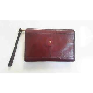 NEW AIGNER Authentic Leather BRANDED Clutch Men + Pegangan Kulit