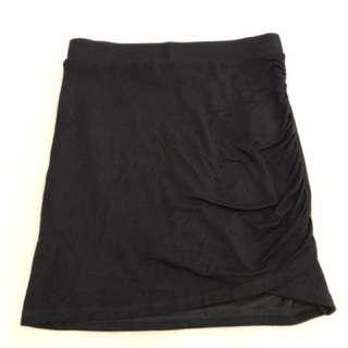 Black pencil cotton skirt