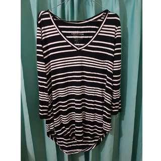 Blouse Stripe Lengan Panjang - Striped Long Sleeve Blouse