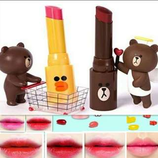Line friends lipstick - different colors