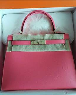 Available Hermes Kelly 28 Rose Azalea