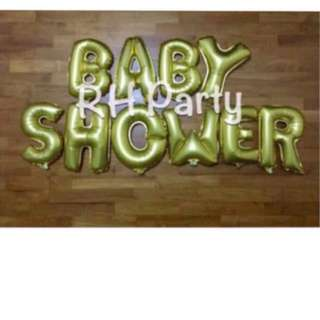 (16/12)Free Normal mail -Baby Shower / Full month Alphabet Letters Foil Balloons Party Wall Deco Promotion