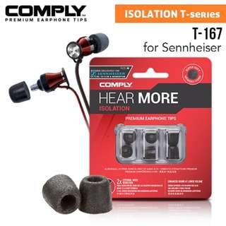 COMPLY Isolation T-167 Foam Eartips [for Sennheiser Momentum, M2 IEI, MIE2, HD 1, CX3.00, CX5.00, IE800, etc]