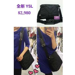全新 YSL/ SAINT LAURENT 273652 Nylon Hamptons 黑色 尼龍 肩背袋 手袋 Messenger Bag In Black
