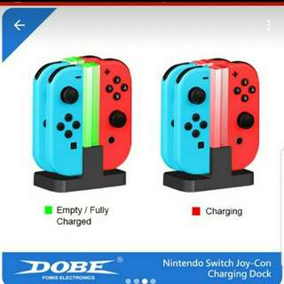 Nintendo Switch JoyCon 配件 Controller Charging Stand 可同時充4個手柄