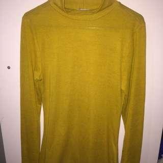 Mustard long sleeve size S
