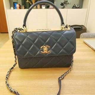 Chanel Top Handle CC logo trendy flap bag