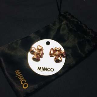 MIMCO Bow Rose Gold Earrings