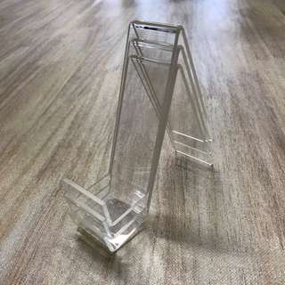Transparent acrylic stand/ frame holder