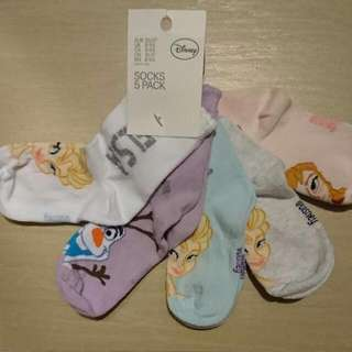 Brand New H&M Girls Frozen Disney Socks Kids Size EU 25/27