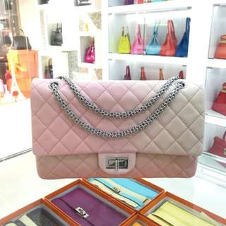 Chanel 粉紅漸變色雙蓋227經典美包[色][色] 98 99新 太完美了✨原價快5萬!現在港幣1****秒殺!