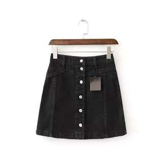 [INSTOCK] Topshop Inspired Denim Button Down Skirt
