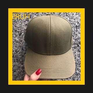 H&M GREEN ARMY CAP/ Topi Snapback