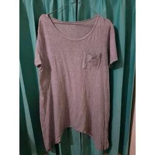 Nikicio Tshirt Abu-abu - Grey Long Tshirt