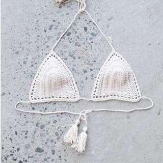 Crochet Tassel Bikini Top
