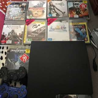 ps3 500G Plus 9 Games & 2 Wireless Controller