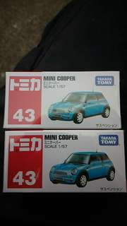 Tomica Tomy No.43 Mini Cooper 1架 全新未開封