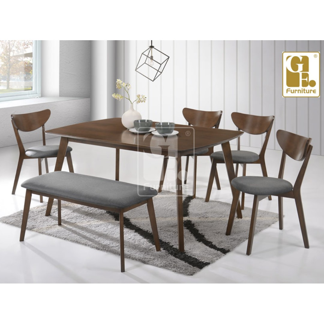 1 6 FUSION DINING ROOM SET X2 BENCH