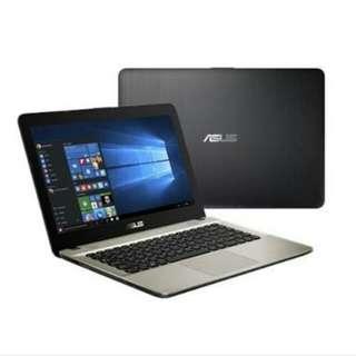 Kredit Laptop Asus X441NA-BX401T Black Gratis 1x Cicilan