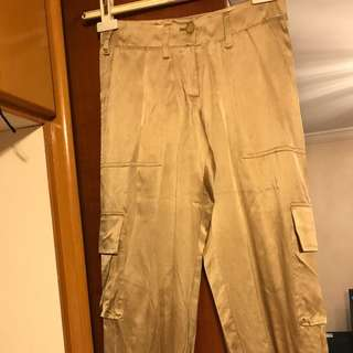 Tommy gold satin pants / xs size , 25 inches waist