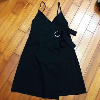一片裙綁帶洋裝