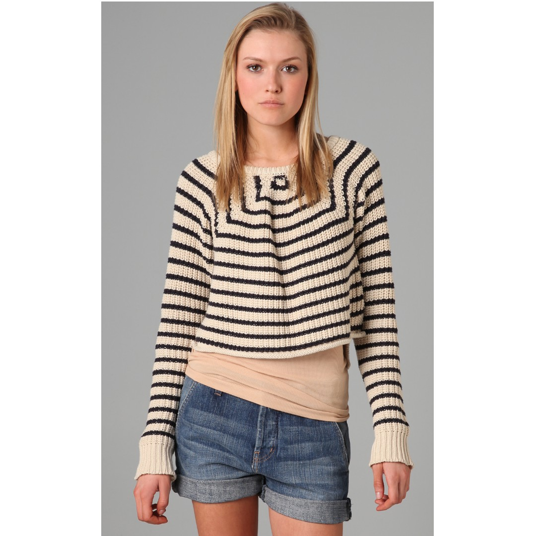 $200 PJK Patterson J. Kincaid Melinda Striped Cropped Sweater Shopbop Aritzia