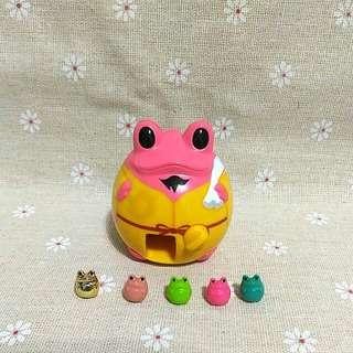 青蛙扭蛋機 轉蛋 公仔 玩偶 模型