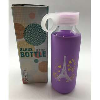 Brand New Glass Water Bottle with Protective sleeve