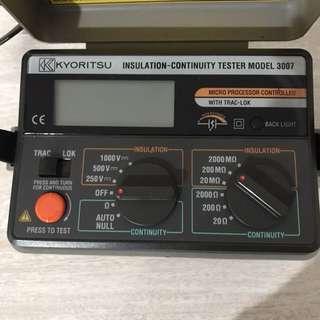 KYORITSU Digital Insulation Continuity Tester - 3007
