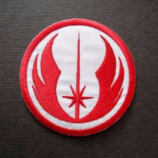 Jedi Order Star Wars Red Emblem Iron On Patch