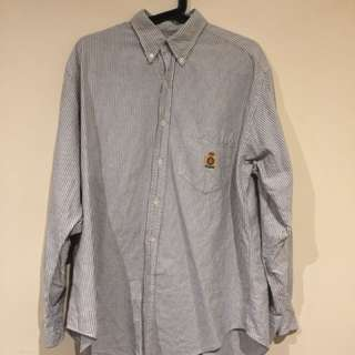 Vintage Ralph Lauren Men's Pin Striped Shirt