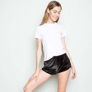 Brandy Melville Velvet Shorts