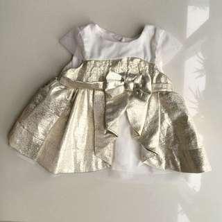 Catherine Malandrino Gold Formal Dress/ Blouse