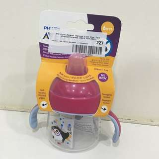 Phillips Avent Pink Penguin Sippy Cup 7oz (6mths)