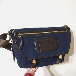 #降#原價8650元 porter 帆布包 公事包 側背包 深藍 日本製生地
