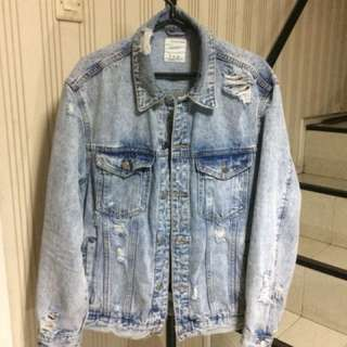 Bershka ripped denim jaket