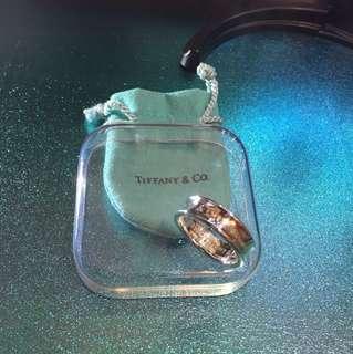 約港度 21.5 號圈 Tiffany 經典 925 銀戒指(9成新)