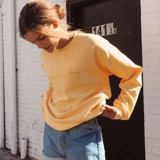 authentic brandy melville honey erica pullover top