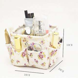 Make up storage with pockets