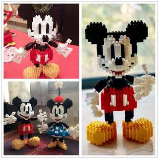 Mickey & Minie Mouse Big Cartoon  Blocks (Sell in Pairs)