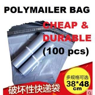 Grey Polymailer Bag 100pcs (38x48cm) Singapore Seller + 100% Authentic (ST1014)