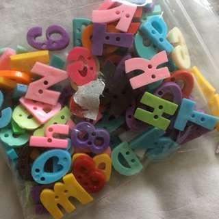 Alphabet buttons A-Z $8. By mail