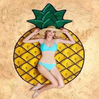 Beach Towel Pineapple Design