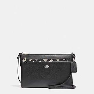 Coach East/West Crossbody with Pop-Up Pouch with Wild Plaid Print