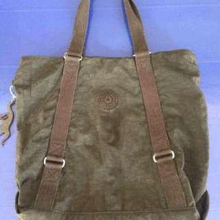 Original Kipling Kyoko M Shoulder Tote Bag Carryall not Coach LeSportsac Lacoste Spade