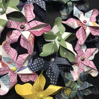 Paper pinwheel for embellishments