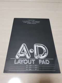 A3 and A4 Drawing Layout Pad