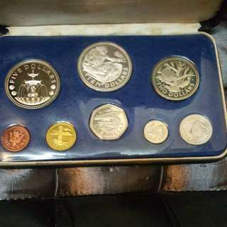 1974 BARBADOS full set proof coin.